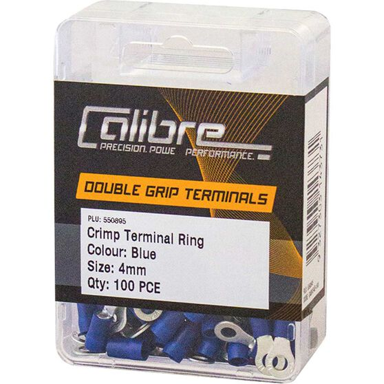 Crimp Terminal Ring Blue 4mm 100Pk, , scanz_hi-res