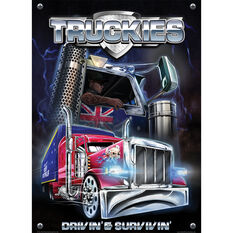 Truckies Driving and Surviving Tin Sign, , scanz_hi-res