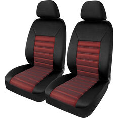SCA Memory Foam Seat Cover - Red Adjustable Headrests Front Pair Size 30, , scanz_hi-res