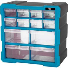12 Drawer Organiser - Blue, , scanz_hi-res