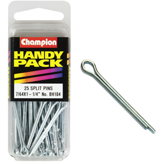 Champion Split Pins - 7 / 64inch X 1-1 / 4inch, BH184, Handy Pack, , scanz_hi-res