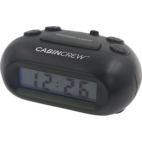 Cabin Crew Digital Alarm Clock - Black, , scanz_hi-res
