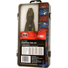 SCA Crimping Tool Kit, 141 Piece with Double Crimp Terminals, , scanz_hi-res