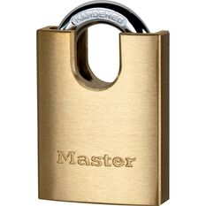 Master Lock Padlock - Shrouded Brass, 40mm, , scanz_hi-res