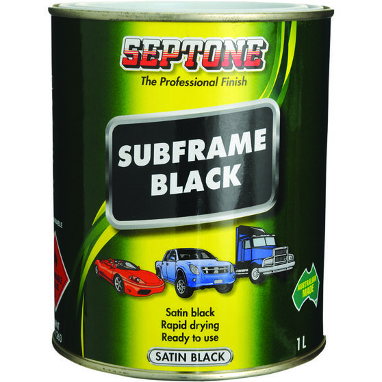 Septone Subframe Paint - Satin Black, 1 Litre, , scanz_hi-res