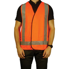 Trafalgar Hi-Vis Day Night Safety Vest Orange X-Large, , scanz_hi-res