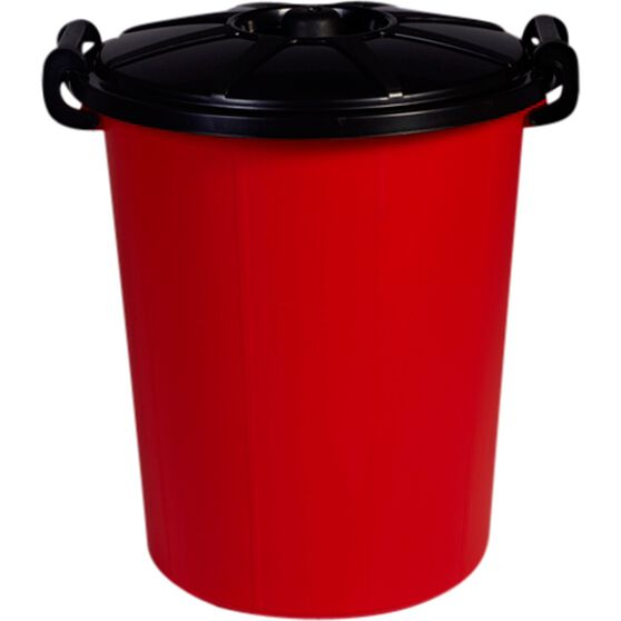 Interworld Plastics Rubbish Bin - Assorted Colours, 48 Litre, , scanz_hi-res