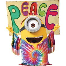 Sticker - Minions Peace, Vinyl, , scanz_hi-res