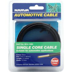 Narva Automotive Cable Single Core 10 Metres 4mm 15 AMP Black, , scanz_hi-res