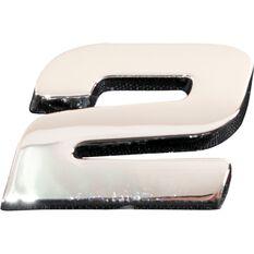 3D Chrome Badge - Number 2, , scanz_hi-res