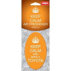 Keep Calm & Drive A Toyota Carded Air Freshener, , scanz_hi-res