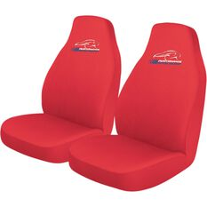Performance Racing Slip On Seat Covers - Red, Built-in Headrests, Size 60, Slip On, Front Pair, , scanz_hi-res