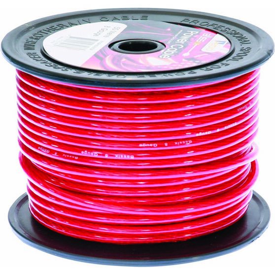 Aerpro Power Cable - 8 AWG, Red, , scanz_hi-res