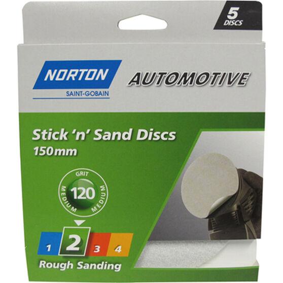 Norton Sticky Disc - 120 Grit, 5 Pack, , scanz_hi-res