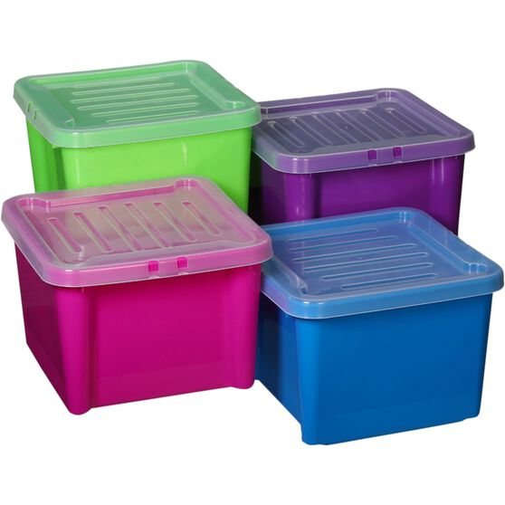 Plastic Storage Bin Lid, 30 Litre, , scanz_hi-res