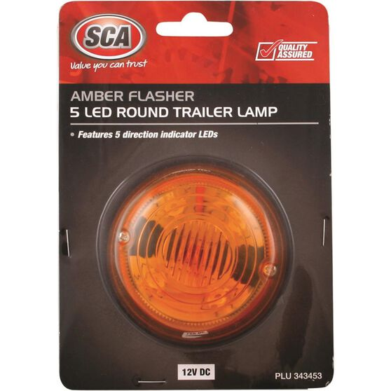 Trailer Lamp - Round, LED, Amber, Single, , scanz_hi-res