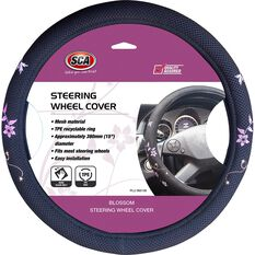 SCA Steering Wheel Cover - Blossom Mesh, Black/Orange/Purple, 380mm diameter, , scanz_hi-res