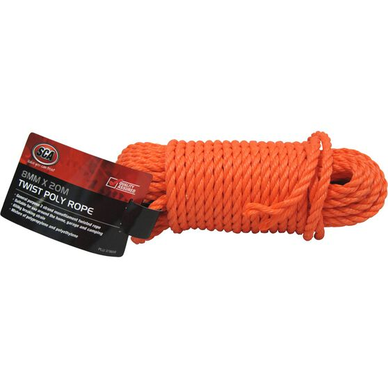 SCA 3 Strand Twist Poly Rope - 8mm X 20m, , scanz_hi-res
