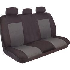 Ilana Imperial Seat Covers - Black, Adjustable Headrests, Rear Seat, , scanz_hi-res