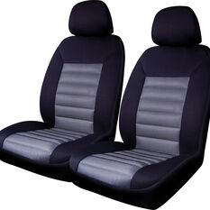 SCA Memory Foam Seat Cover - Black Adjustable Headrests Front Pair Size 30, , scanz_hi-res