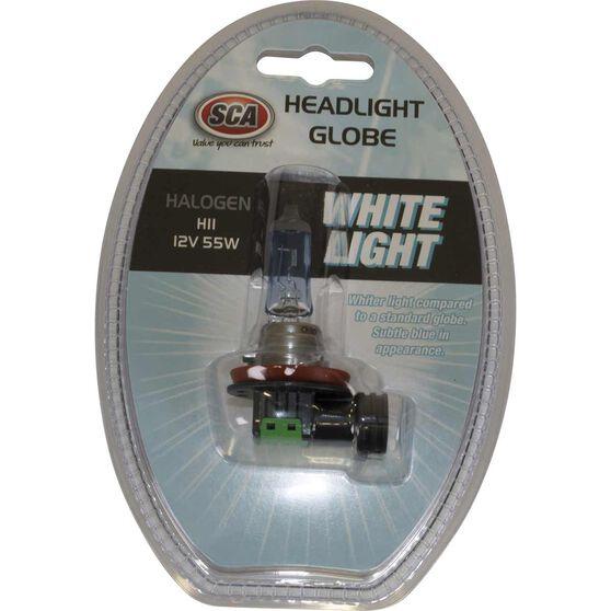 SCA White Light Performance Globes - 12V, 55W, H11, , scanz_hi-res