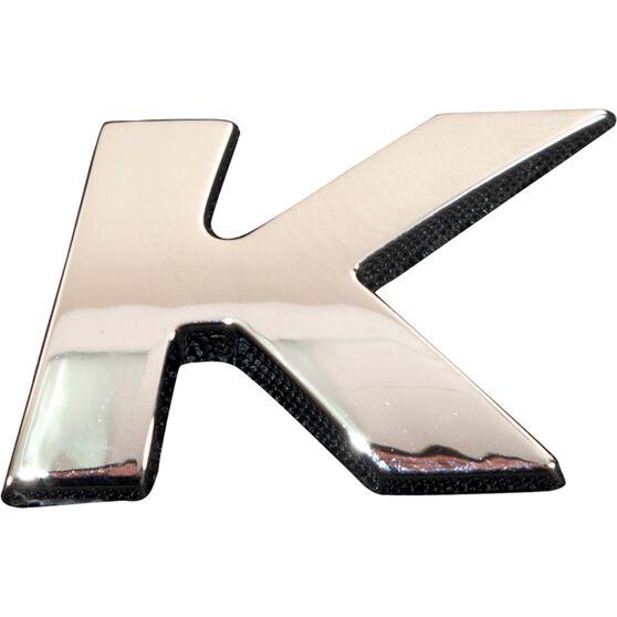 SCA 3D Chrome Badge Letter K, , scanz_hi-res