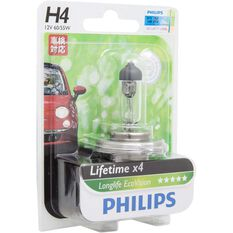 Philips LongLife EcoVision Headlight Globe - 12V, H4, 60/55W, , scanz_hi-res