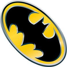 Hot Stuff Sticker - Batman Yellow Emblem, Vinyl, , scanz_hi-res