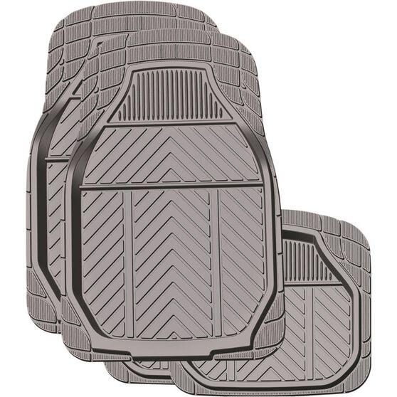 Ridge Ryder Deep Dish Car Floor Mats - Rubber, Charcoal, Set of 4, , scanz_hi-res