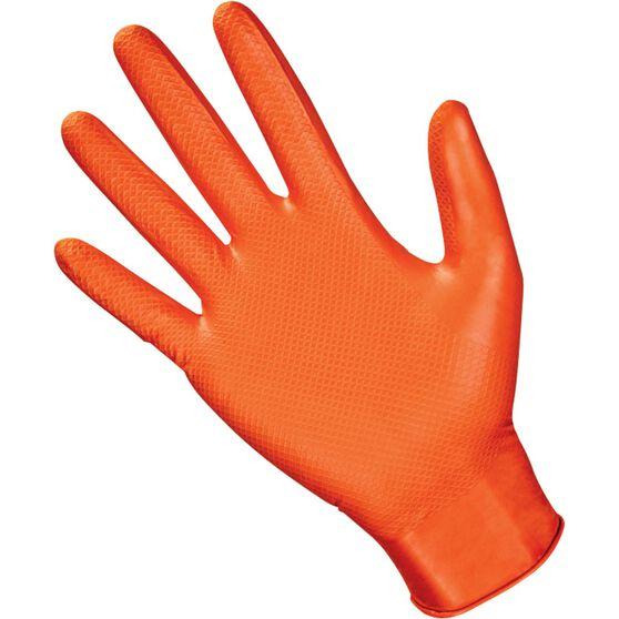 SAS Astro-Grip Nitrile Gloves - Orange, Medium, 100 Pieces, , scanz_hi-res