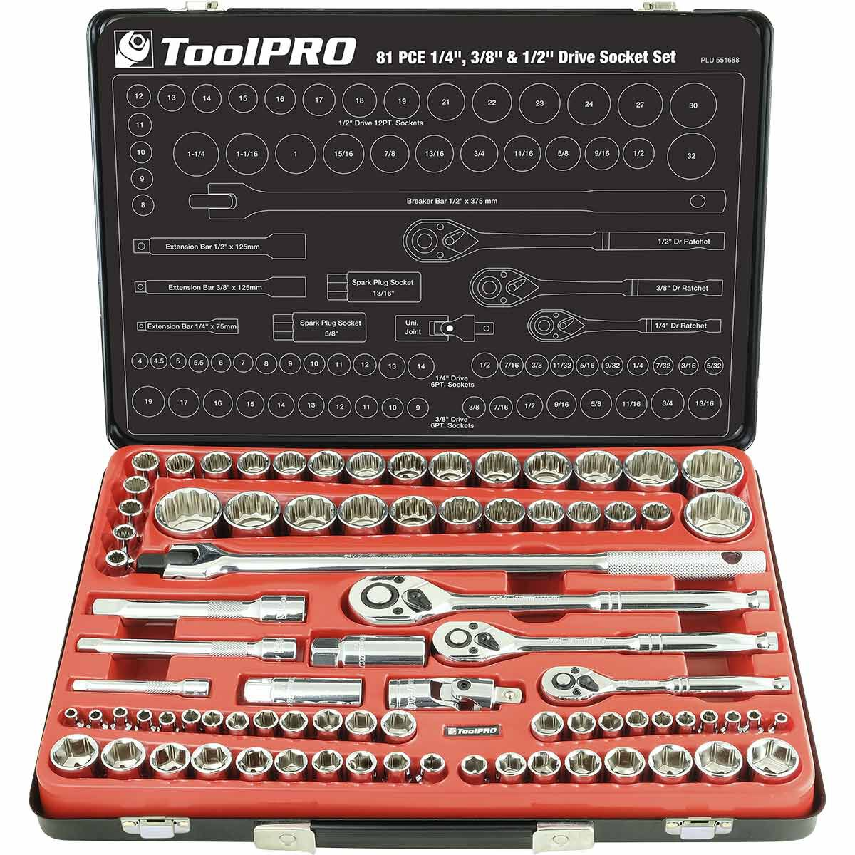 3//8 drive T Handle Metric Socket Set with carrier