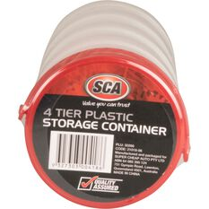 SCA Round Plastic Storage Container 4 Tier, , scanz_hi-res