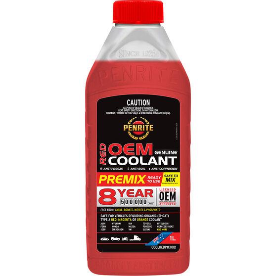Penrite Red Long Life Anti Freeze / Anti Boil Premix Coolant - 1L, , scanz_hi-res
