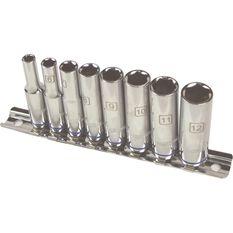 ToolPRO Socket Rail Set - 1 / 4 inch Drive, Metric, Deep, 8 Piece, , scanz_hi-res