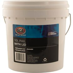 White Pail Bucket With Lid - 10L, , scanz_hi-res