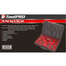 ToolPRO Tap and Die Set - Metric and Imperial, 76 Piece, , scanz_hi-res