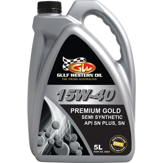 Gulf Western Premium Gold Engine Oil  - 15W-40, 5 Litre, , scanz_hi-res
