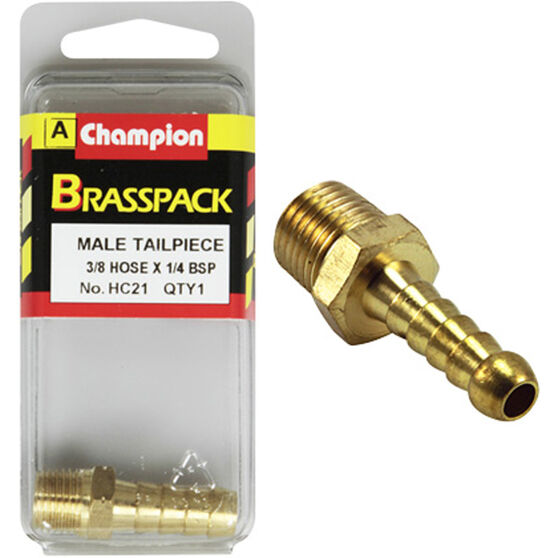 Champion Male Hose Barb - 3 / 8inch X 1 / 4inch, Brass, , scanz_hi-res