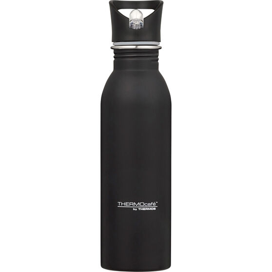 Thermos Thermocafe 700ml Drink Bottle - Black, Stainless Steel, , scanz_hi-res