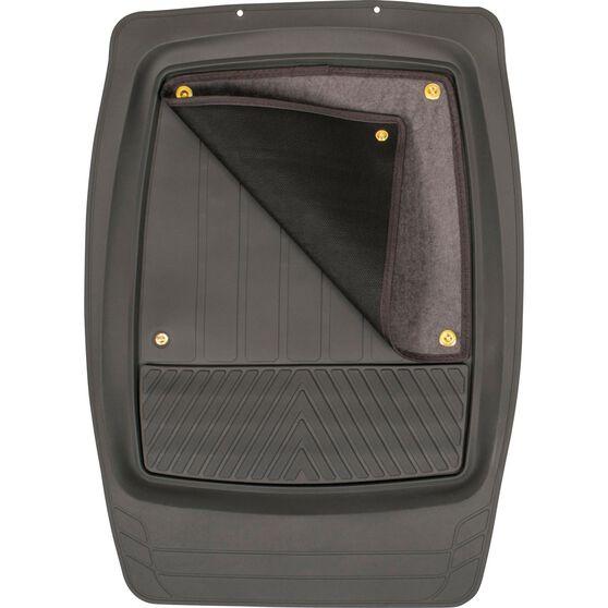 SCA Premium Combo Floor Mats - Removable Carpet, Grey, Set of 4, , scanz_hi-res