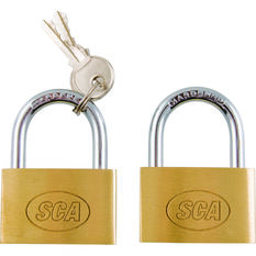 SCA Padlock - Brass, 40mm, 2 Pack, , scanz_hi-res