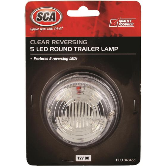 SCA Trailer Lamp - LED, Round, White, , scanz_hi-res
