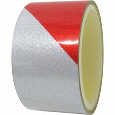 Reflective Tape - 25MM x 1M, Red/White, , scanz_hi-res