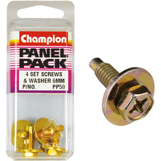 Champion Hex Self Tapping Screw - M16 X 18, PP50, Panel Pack, , scanz_hi-res
