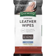 Oakwood Leather Wipes - 20 Pack, , scanz_hi-res