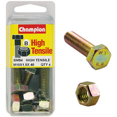 Champion High Tensile Bolts and Nuts - M10 X 40, , scanz_hi-res