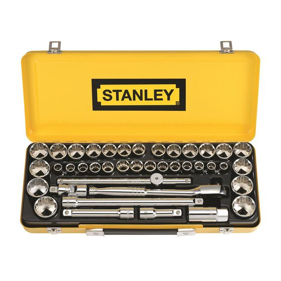 "Stanley Socket Set - 1/2"" Drive, Metric & Imperial, 40 Piece, , scanz_hi-res"