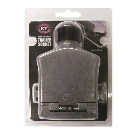 Trailer Socket - 12 Pin, Metal, Flat, , scanz_hi-res