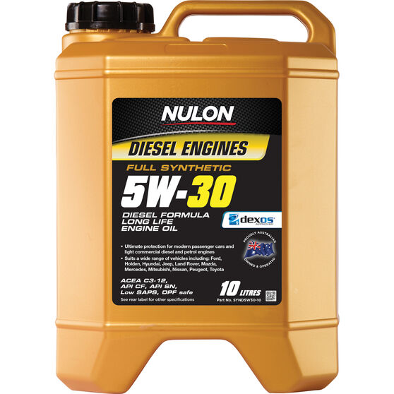 Nulon Full Synthetic Long Life Diesel Engine Oil - 5W-30 10 Litre, , scanz_hi-res
