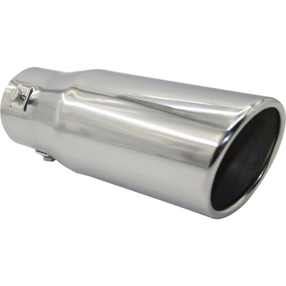 Street Series Stainless Steel Exhaust Tip - Angle Cut Rolled Tip suits 40mm to 52mm, , scanz_hi-res